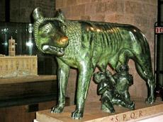 Řím - vlčice a Romulus a Remus