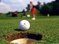 Ilustace - golfová jamka; autor: Přemysl Vida, www.golfplanet.cz