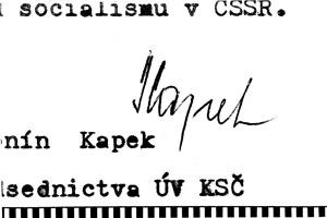 Podpis Antonína Kapka