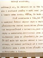Část úvodu dopisu A. Kapka